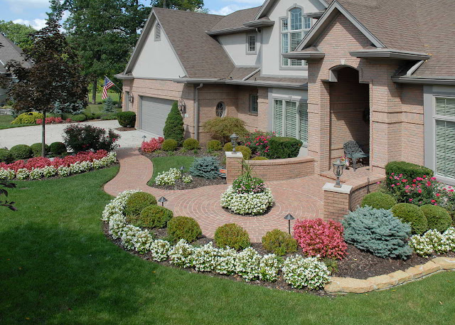 Beautiful front yard Floral arrangement