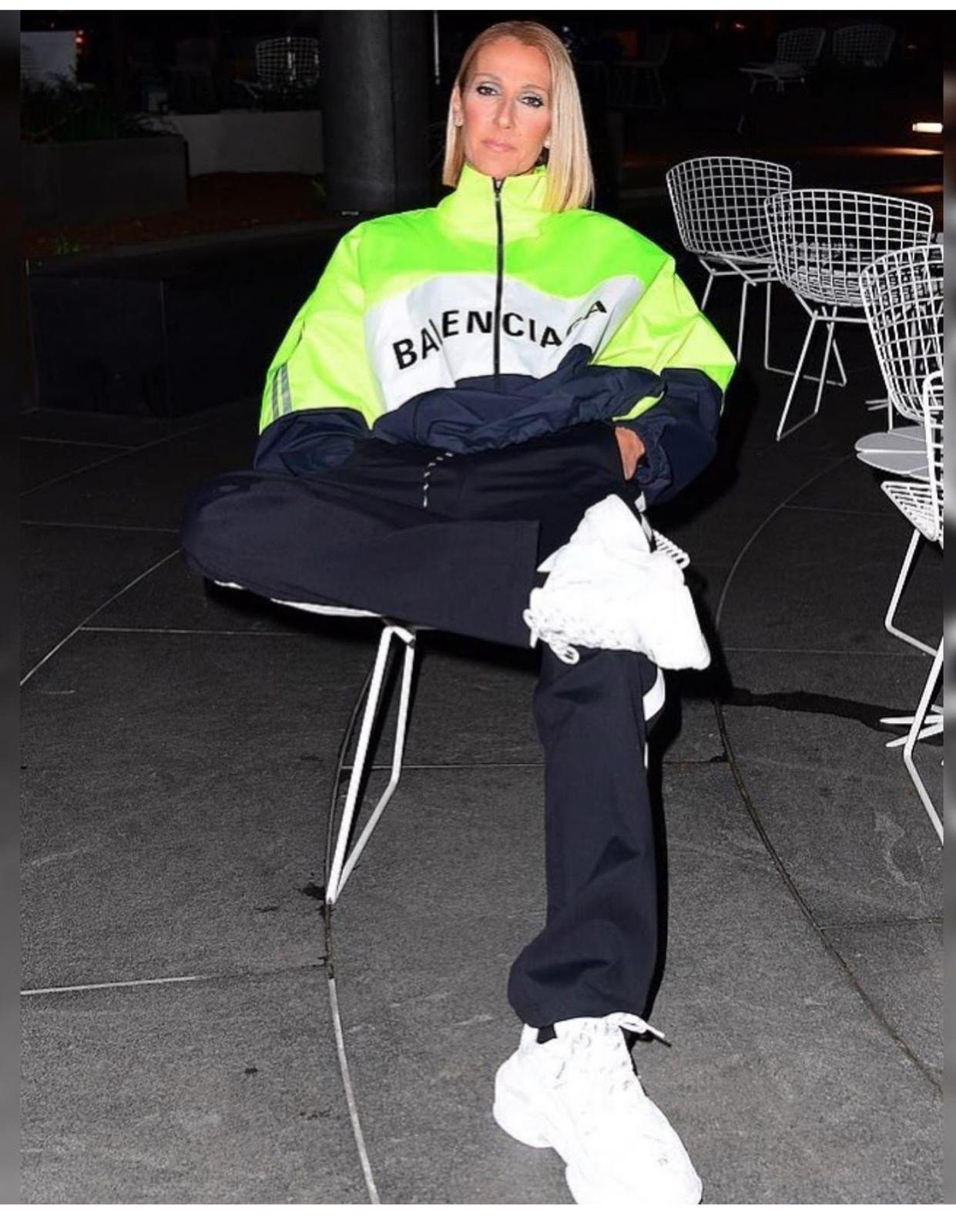 Celine Dion looks cool in neon Balenciaga streetwear out and about in NYC