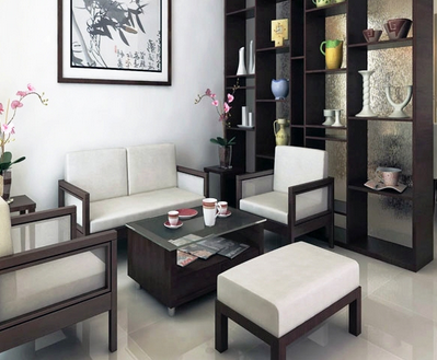 ruang tamu minimalis bernuansa kayu