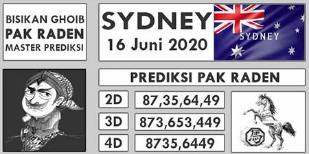 Prediksi Togel Sidney Selasa 16 Juni 2020 - Pak Raden