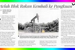 After Block Rokan Returns to Indonesia
