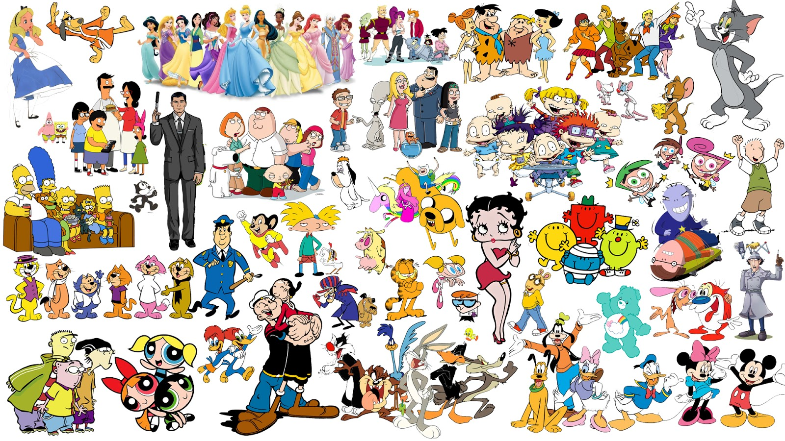 Top 4 Cartoon Characters : By ken levine who s your favorite cartoon character