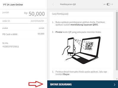 Cara Top Up Cash PB Zepetto Indonesia - Scan QR untuk Membayar