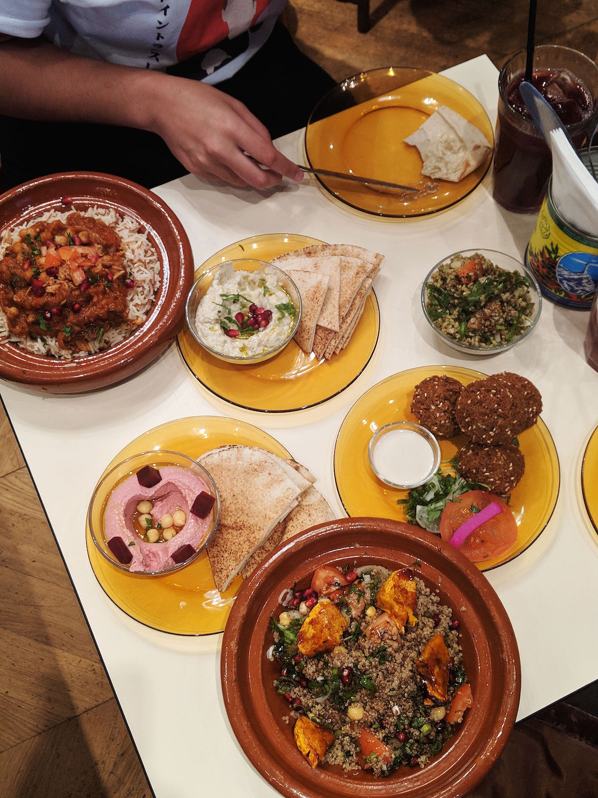 The vegan feasting menu at Comptoir Libanais where two can dine for £19.95
