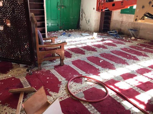 The damage caused by the storming of Al Aqsa Mosque