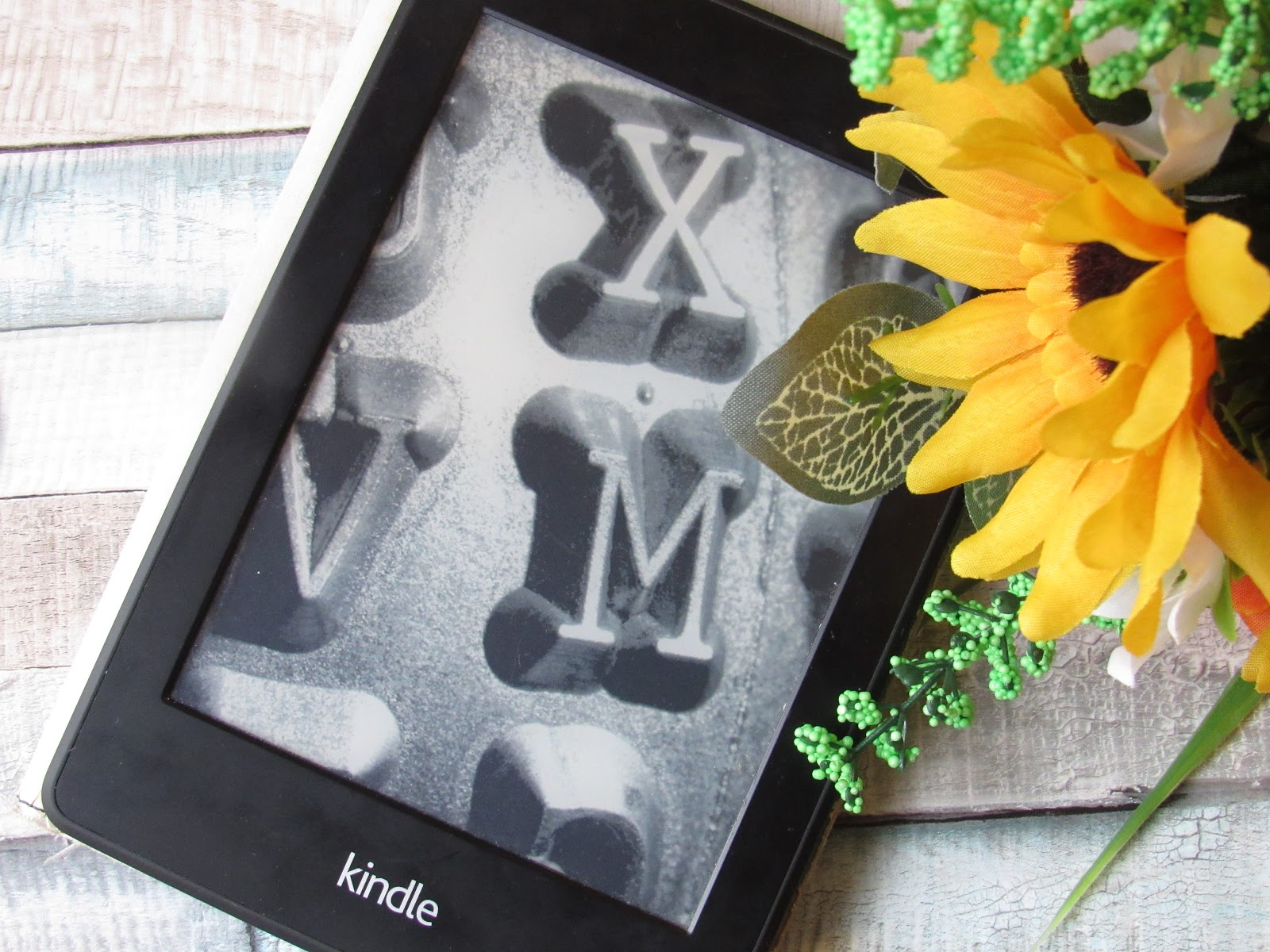 Kindle and sunflowers