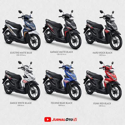 Warna New Honda BeAT Sporty 2021