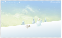 Help this #Christmas chickmonk balence on a snowball down a snowhillwithout falling! #WinterGames #ChristmasGames