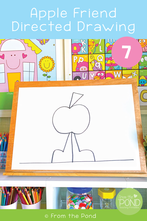 Apple Friend Directed Drawing From the Pond