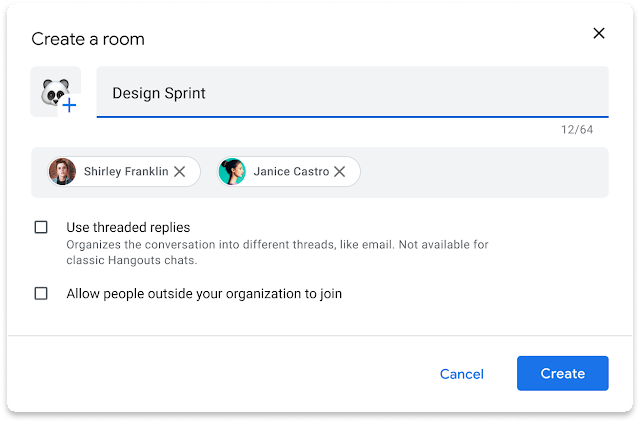 Rooms in Google Chat to be unthreaded by default 1
