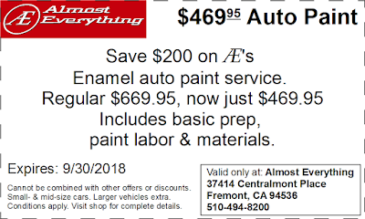 Coupon $469.95 Auto Paint Sale September 2018
