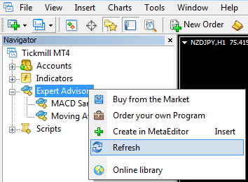 Cara menambahkan Expert Advisor pada MetaTrader