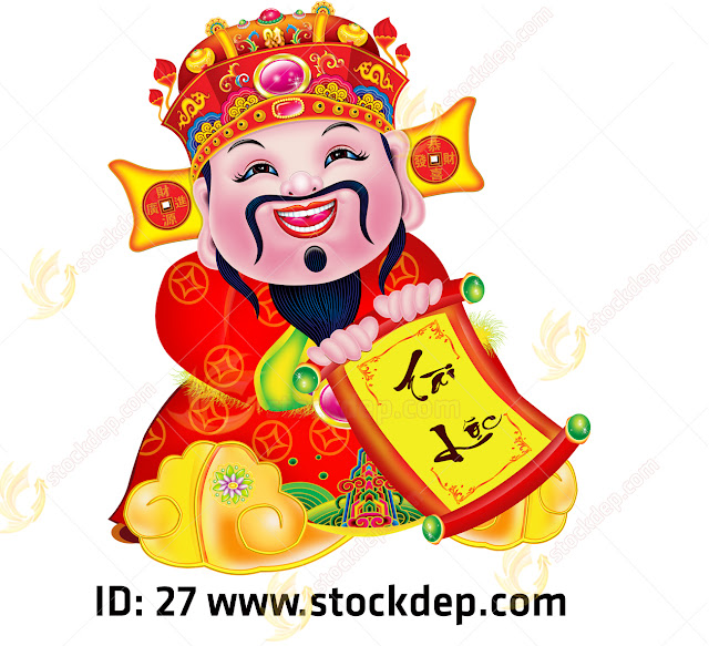 Chinese god of prosperity design Photoshop cs