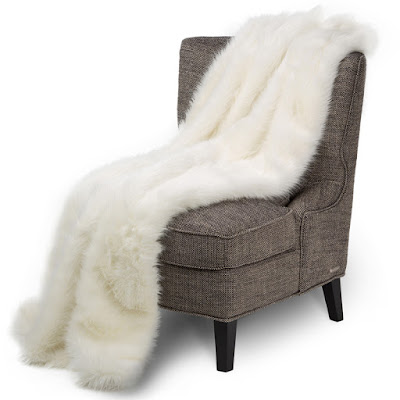 Bethany Faux Fur Throw by Michael Amini