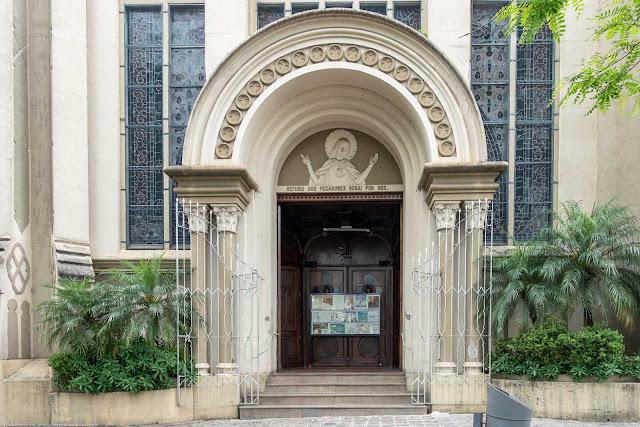 Igreja Imaculado Coração de Maria - porta de entrada principal