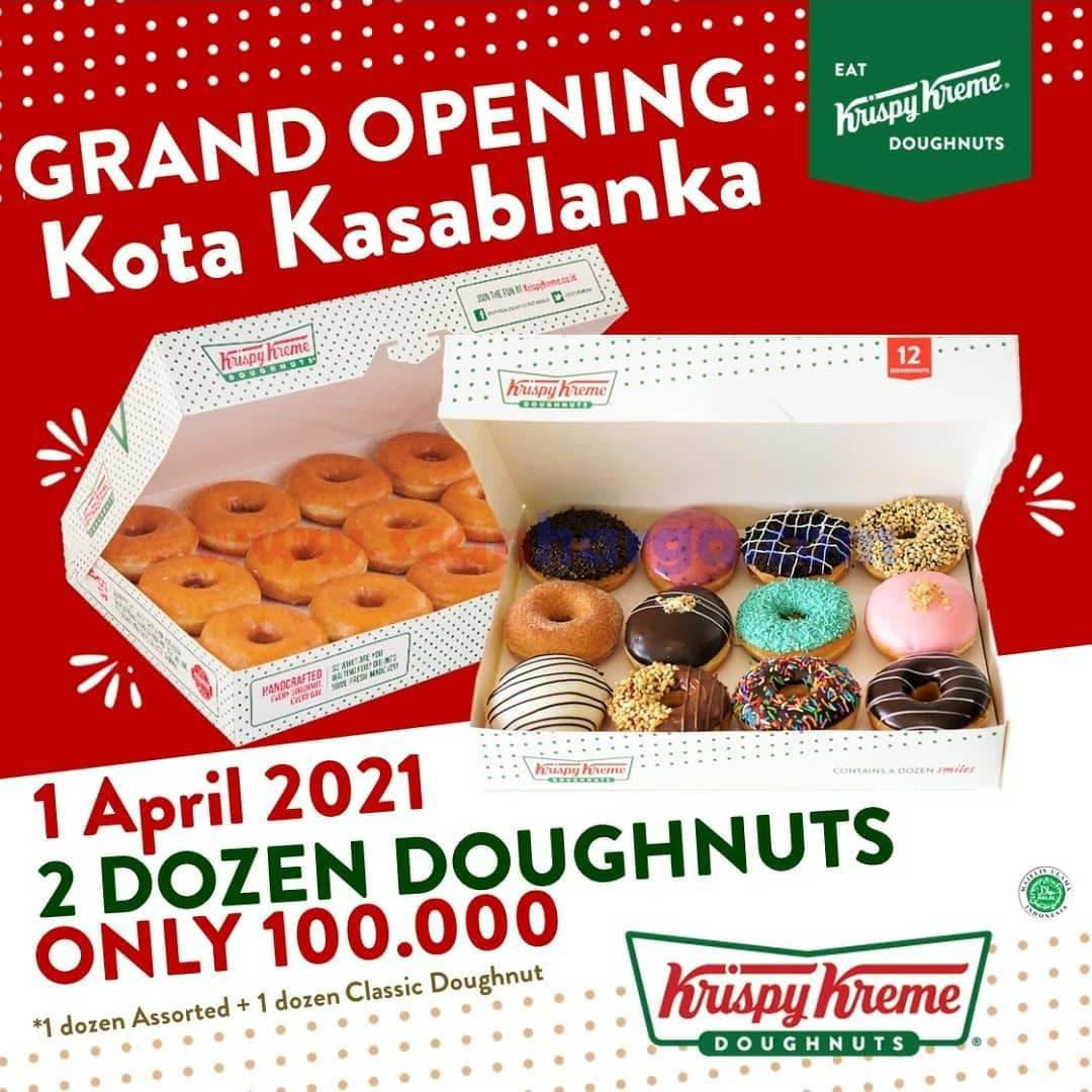 Krispy Kreme Kota Kasablanka Grand Opening - 2 Dozen Donut hanya 100K