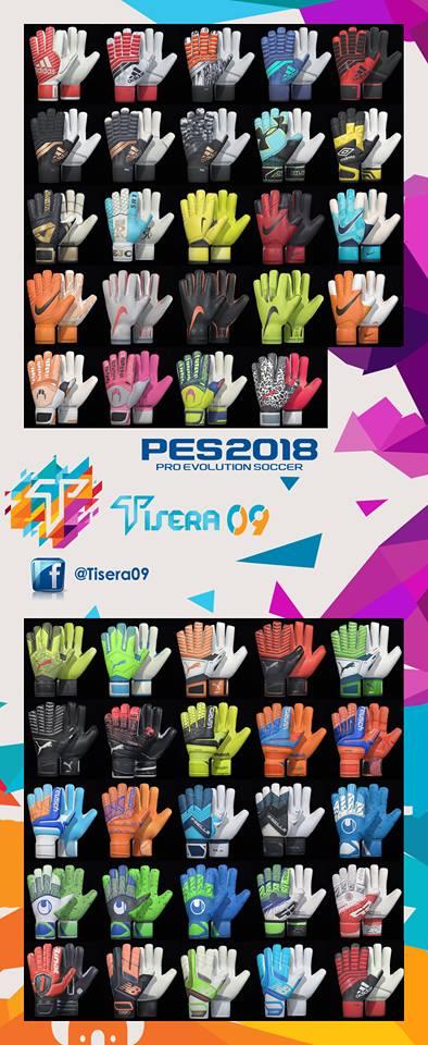 PES 2018 Glovepack by v2 Tisera09