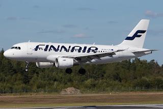 Airbus A319 of Finnair, at Stockholm Arlanda