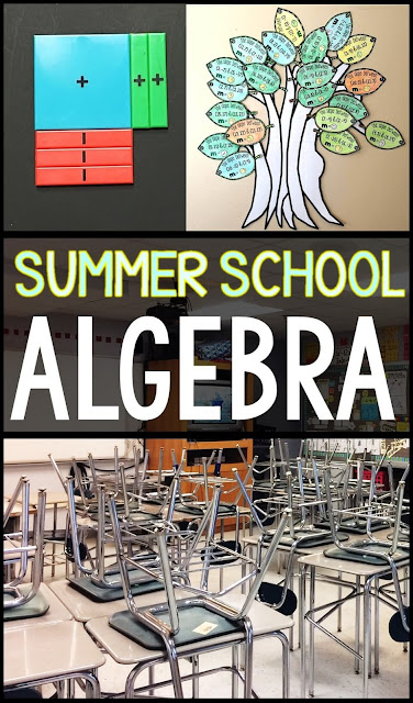 Are you teaching algebra in summer school and wondering how to make it engaging, fun and worthwhile? In this post I collected my favorite resources, activities and links to bring algebra to life. A strong algebra foundation sets a kid up for success in all other math classes. Why not make it fun?