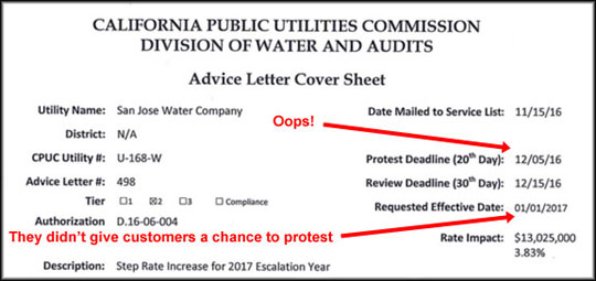 San jose water company sjwc rate increase sjwc is overcharging is it a simple billing error or is it something that has happened before it cost the 225000 home owners roughly an apparent overcharge of as much as spiritdancerdesigns Gallery
