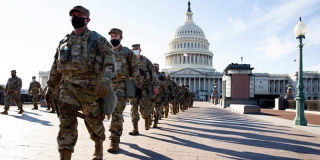 Ratusan Tentara Yang Mengawal Pelantikan Biden Terpapar Virus Corona