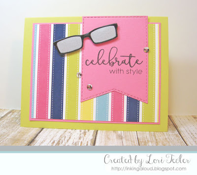 Celebrate with Style card-designed by Lori Tecler/Inking Aloud-stamps from SugarPea Designs