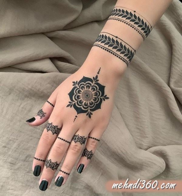 Clean Mehndi Designs Back Hand