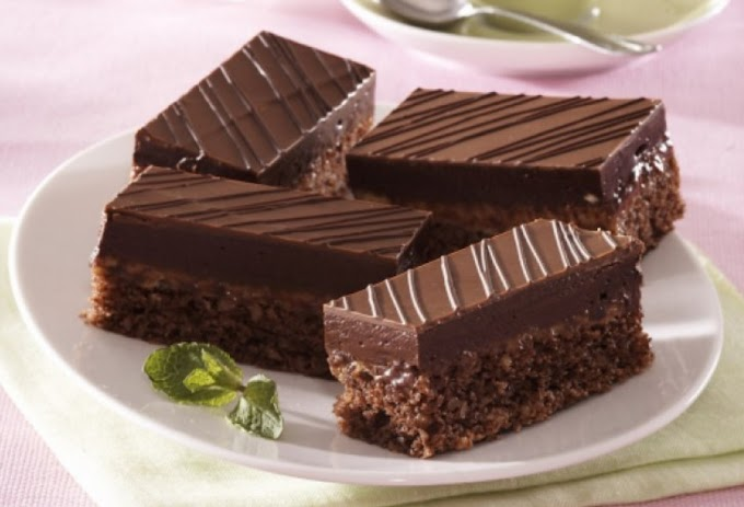 Rumos-csokis szelet
