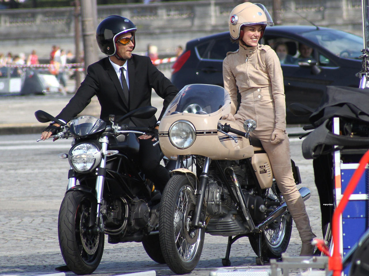 Takeyoshi Images Keira Knightley With Ducati 750ss