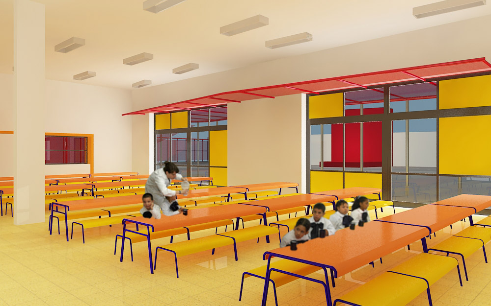 Ideas arquitect nicas demoler y plantar for Comedor de escuela