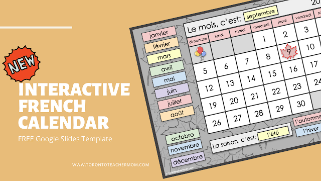 NEW! Interactive French Calendar and Weather Board