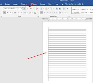 Cara Membuat Garis Buku Tulis Di Word