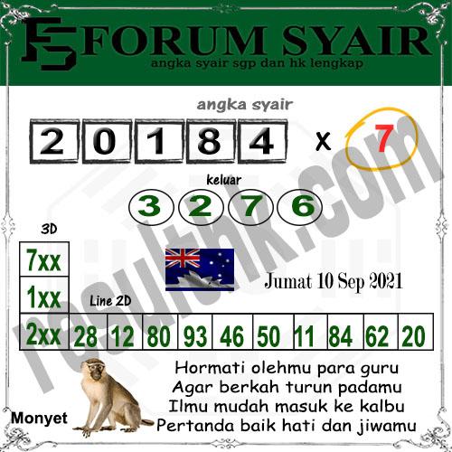 Forum syair Sidney Jumat 10 September 2021