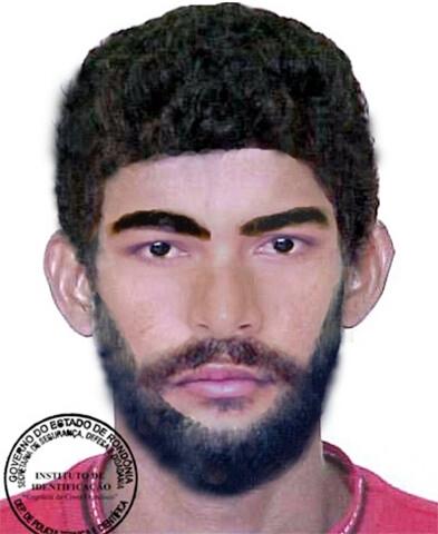 Divulgado retrato falado de suspeito de matar homem a tiros em Ariquemes