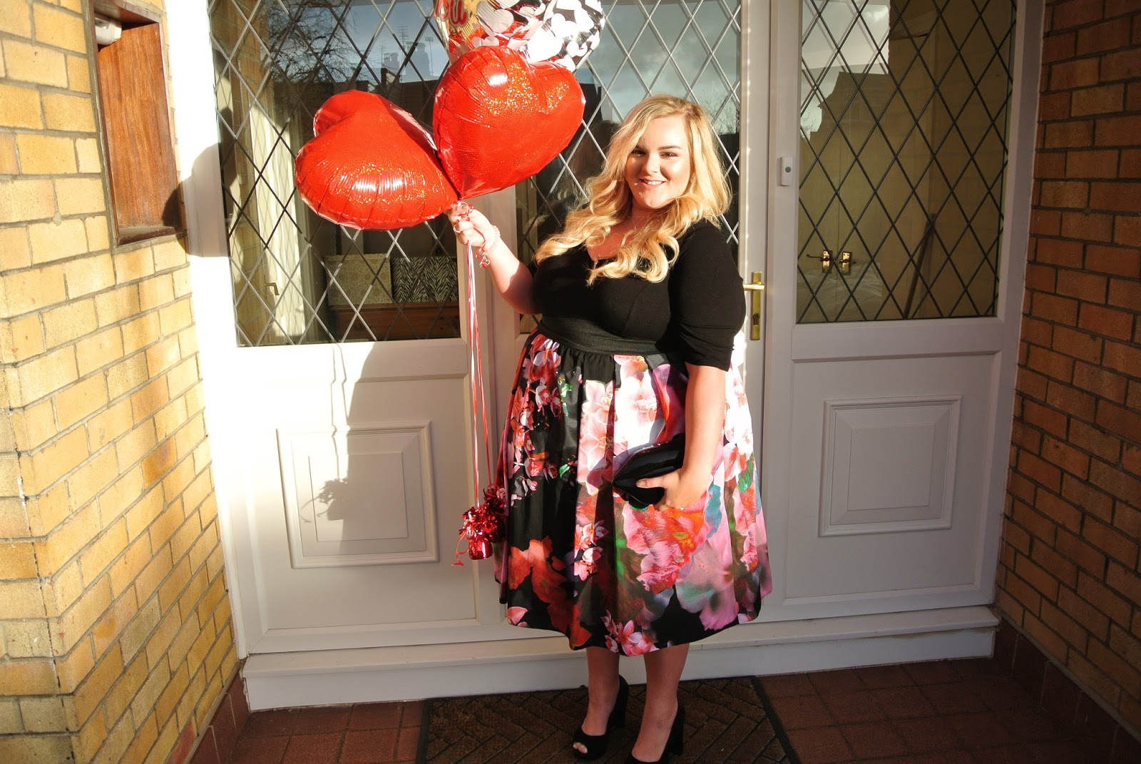 Scarlett and Jo Floral 2 in 1 Dress Valentines Day Plus Size Outfit Inspiration