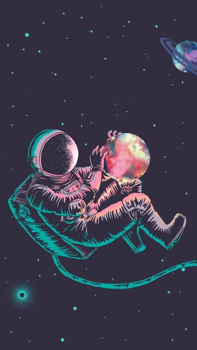 Astronauta No Espaço Papel De Parede Para Celular