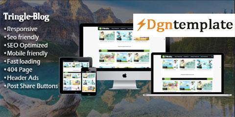 Tringle Responsive Blogger Template [Premium] dgntemplate