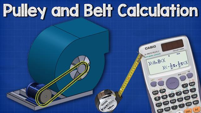 Pulley Belt CALCULATIONS - Belt length, distance between pulley wheels