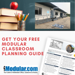 How much does a portable modular classroom cost to rent or buy?