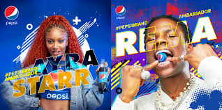 REMA AND AYRA STARR ENDORSEMENT DEAL WITH PEPSI