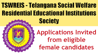 TSWREIS - Telangana Social Welfare Residential Educational Institutions Society Recruitment Apply Now