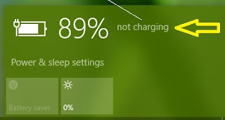 charger plugged in not charging windows 10