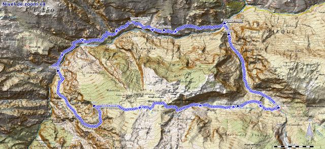 Mapa ruta Piedra Bellida Poncebos
