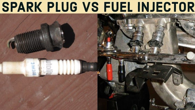 Difference Between the Fuel Injector and Spark Plug