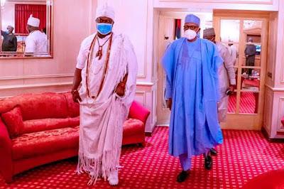 Ooni Visits Buhari In Aso Rock (See Photos)