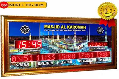 Jual Jam Jadwal Sholat Digital Masjid Di banda aceh