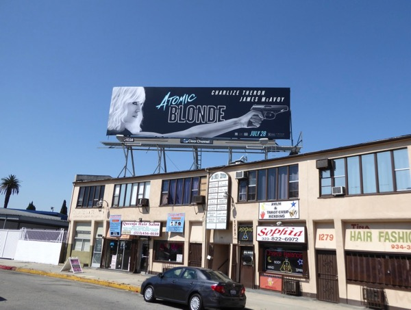 Atomic Blonde film billboard