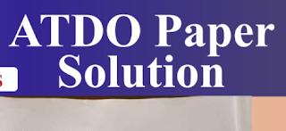 Assistant Tribal Development Officer Paper Solution