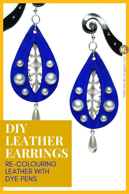 DIY leather earrings inspiration sheet