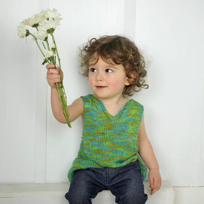 Free Knitting Pattern For Toddlers Tank Top : Toddler Tank Top Free Knitting Pattern - Gina Michele